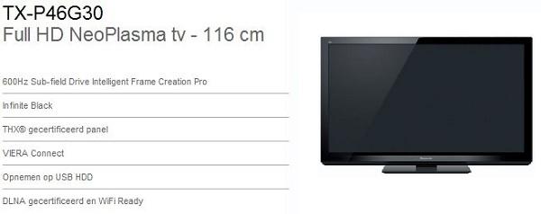 Specs Panasonic G30