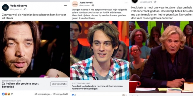 Frauduleuze Facebook-advertenties met BN'ers