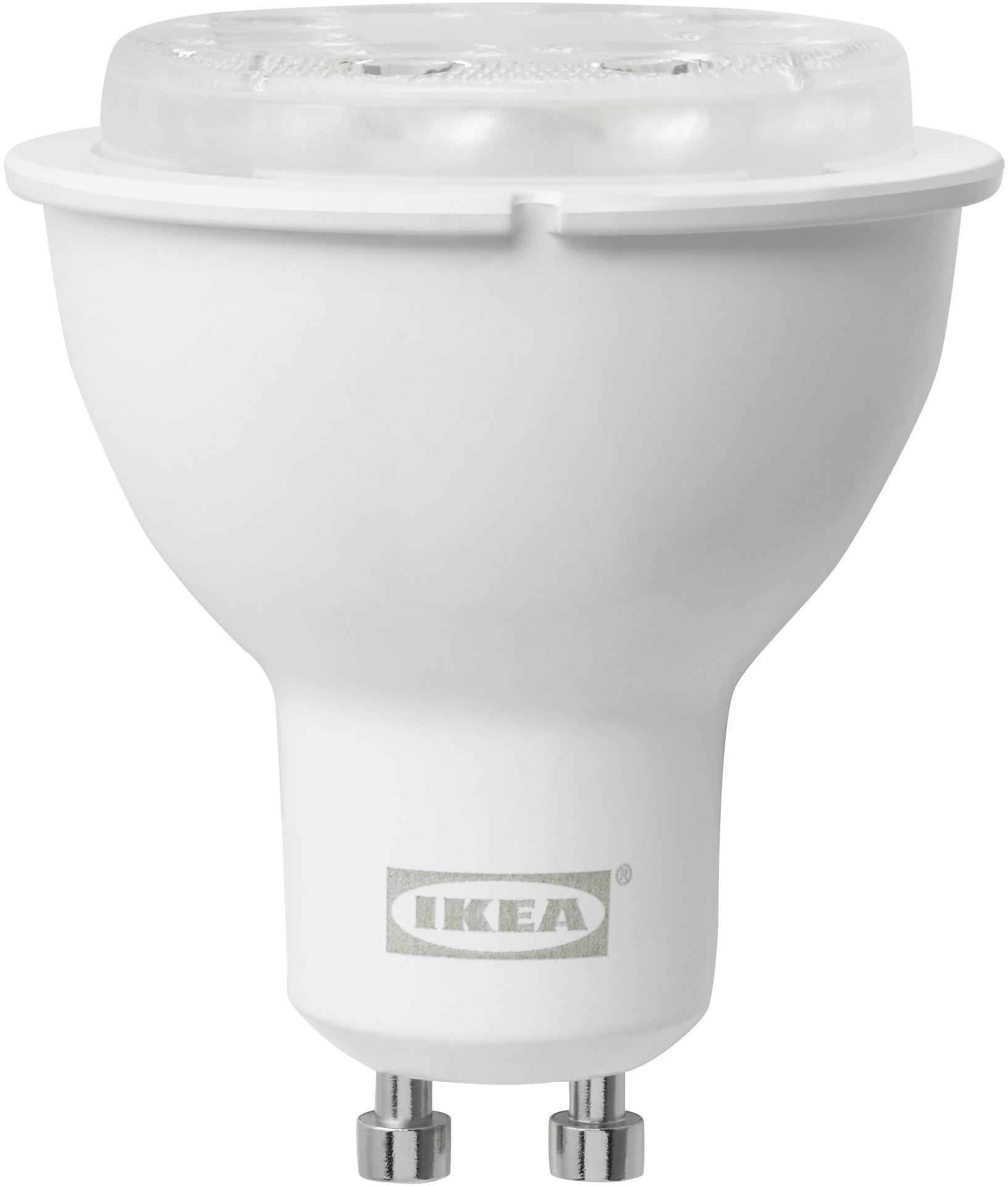 ikea tr dfri led lamp gu10 400 lumen draadloos dimbaar wit spectrum prijzen tweakers. Black Bedroom Furniture Sets. Home Design Ideas