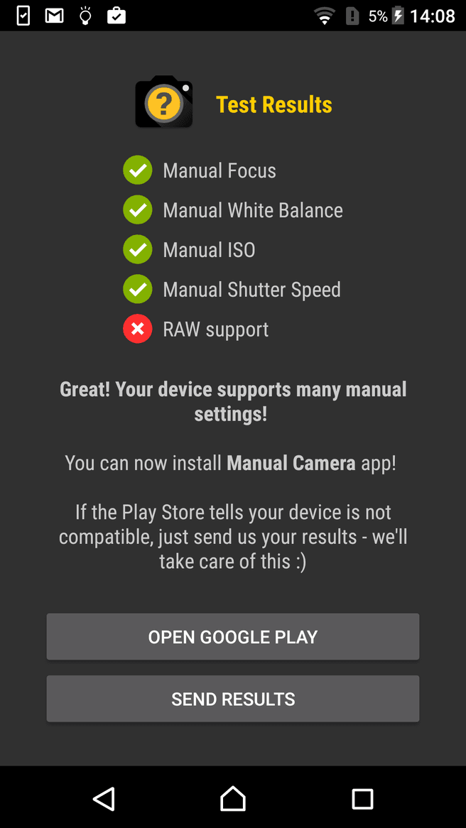 Sony Xperia smartphones bieden geen ondersteuning voor raw