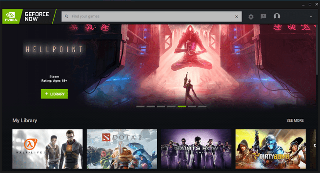 GeForce Now library import