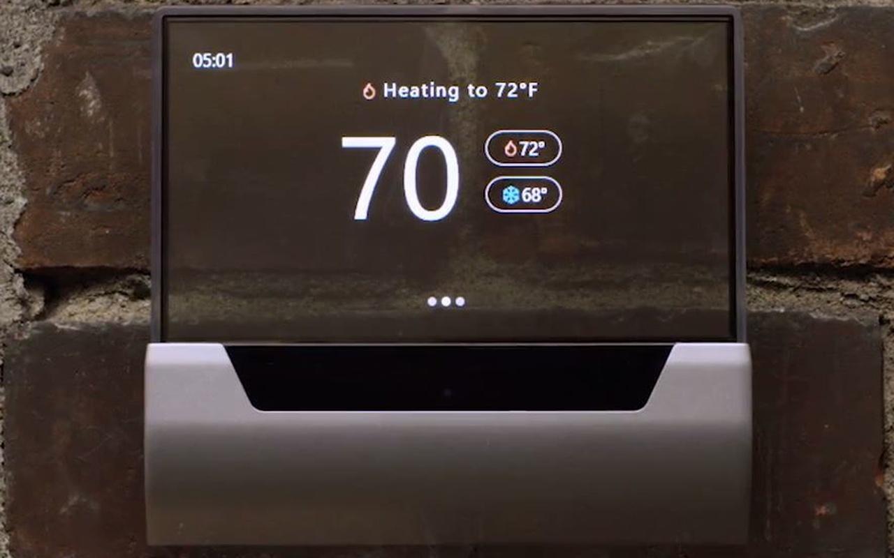 Johnson Control Glas-thermostaat met Microsoft Cortana-integratie