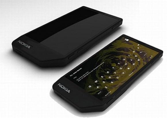Concept Nokia-toestel met groot touchscreen