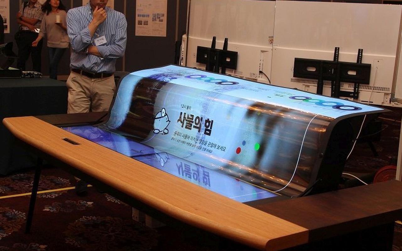 """LG toont flexibel en transparant 77""""-oledpaneel"""