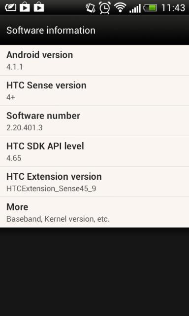 HTC Desire X Android 4.1.1