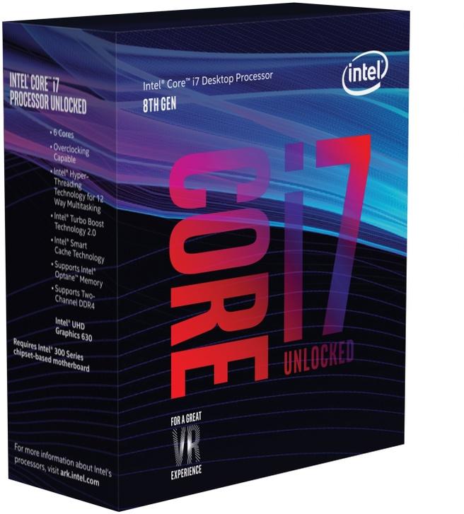 Intel Intel® Core? i7+8700 Processor (12M Cache, up to 4.60 GHz) includes Intel® Optane? Memory (16GB)