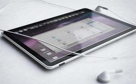 Apple Tablet-render (copyright: Fotoboer.nl)