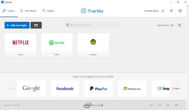 true key interface