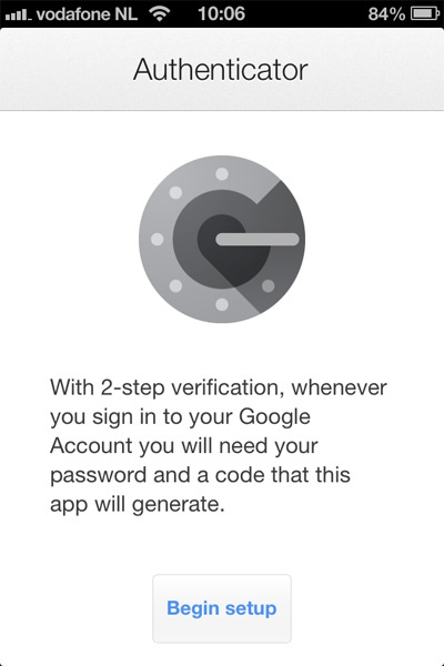 Google Authenticator oepsie