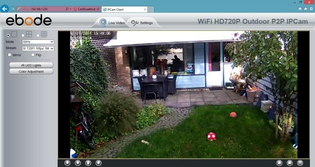 Ebode IPV58P2P live view via Internet Explorer