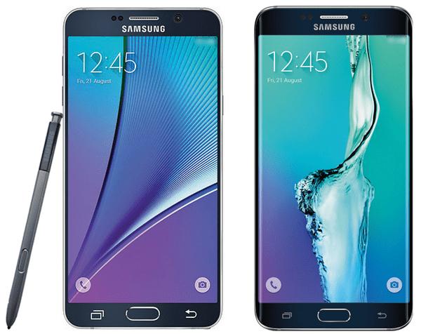 Samsung Galaxy Note 5 en S6 Edge Plus