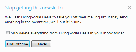 Hotmail -- Nieuwsbrieven