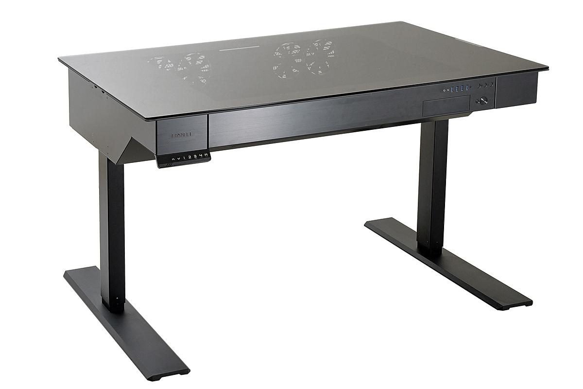 Lian li brengt computerbehuizing in de vorm van verstelbaar bureau