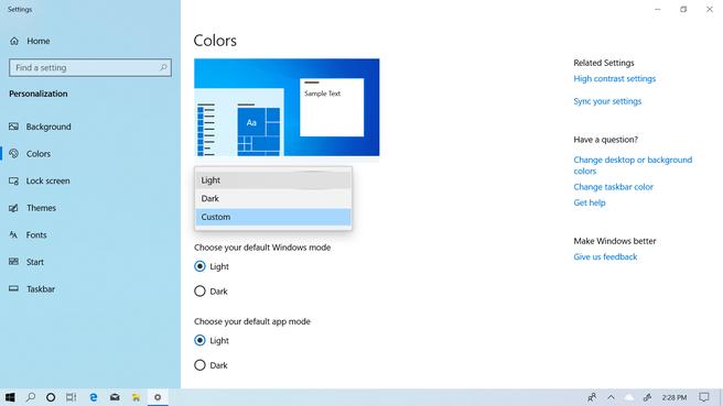 Windows 10 May 2019 light 2