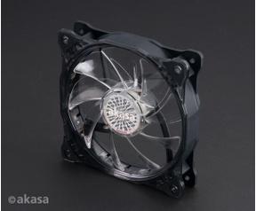Akasa Vegas X7. Geschikt voor: Moederbord, Soort: Ventilator, Rotatiesnelheid ( max): 1200 RPM. Kleur van het product: Zwart, Transparant, Belichting: LED. Nominale netspanning: 0,13 A. Breedte: 120 mm, Diepte: 120 mm, Hoogte: 25 mm. Meegeleverde ka, 120m