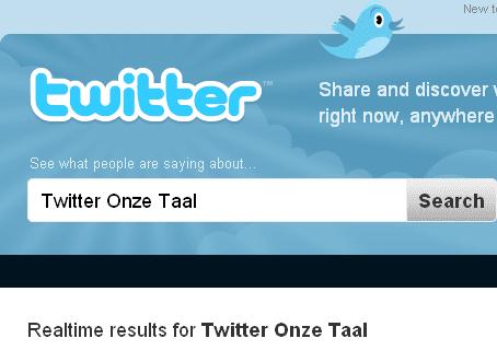 Twitter Onze Taal woord van het jaar 2009