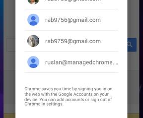 Screenshot vermoedelijke volgende Android-versie