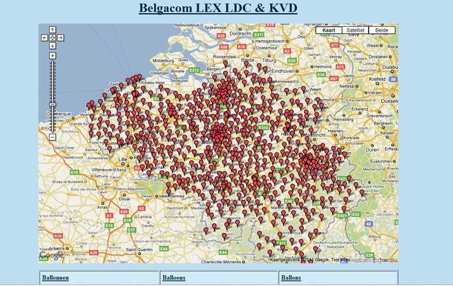 Bgcmap: site met netwerkkastjes Belgacom