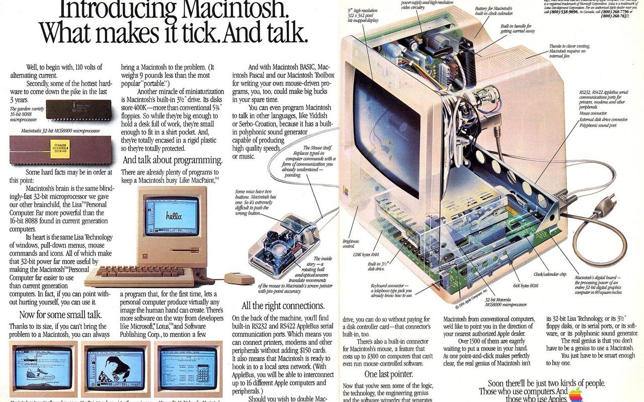 Apple Macintosh 128K reclame