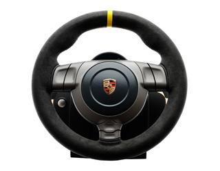 fanatec porsche 911 gt3 rs wheel oranje titanium zwart. Black Bedroom Furniture Sets. Home Design Ideas