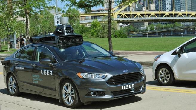 Zelfrijdende auto Uber