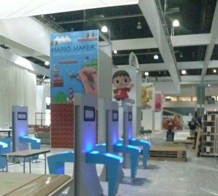 Mario Maker Nintendo E3-stand