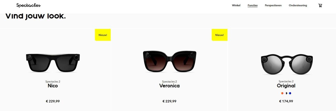 28fe1b6ac29b00 Snap komt met nieuwe versies van Spectacles-camerabril voor 230 euro ...
