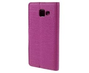 Kees Lederlook Portemonnee Hoesje Samsung Galaxy A3 (2016) - Roze