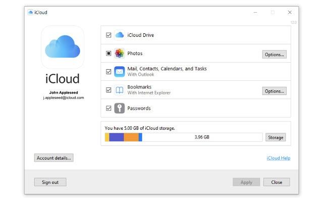 Apple iCloud Passwords Chrome-extensie, januari 2021