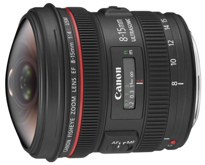 Canon 8-15mm fisheye-lens
