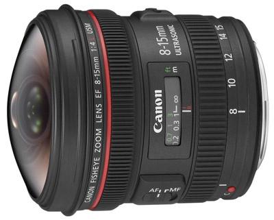 Canon 8-15mm fisheye-lens