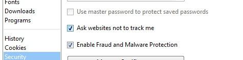 Opera - do not track