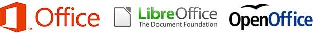 Logo's Office, LibreOffice, OpenOffice