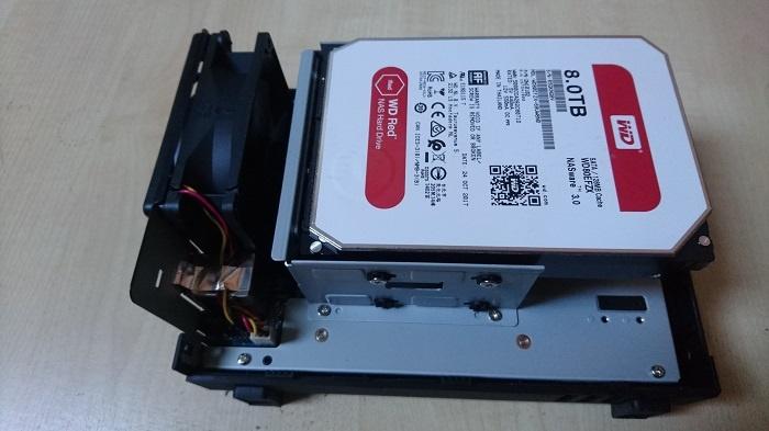 Western Digital 8 TB HDD in DS218play