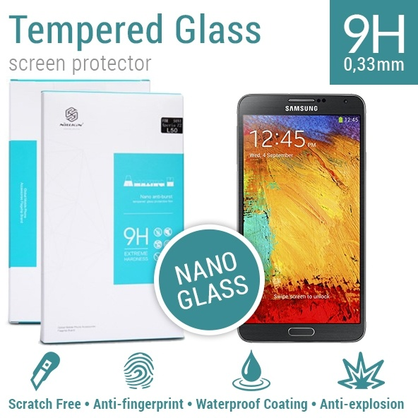 Nillkin Screen Protector Tempered Glass 9H Nano Samsung Galaxy Note 3