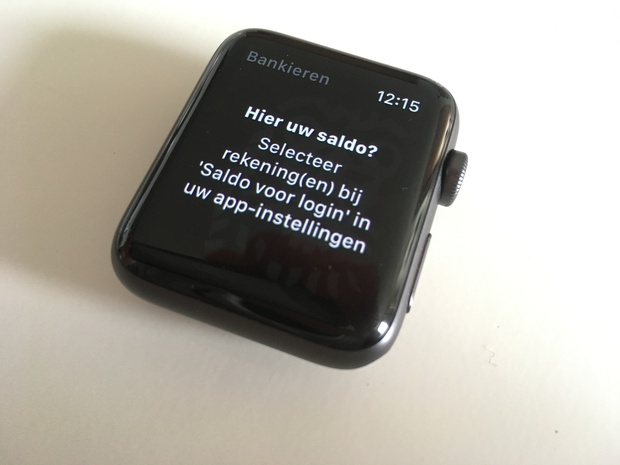 Even snel je saldo checken op de pols met de ING app.