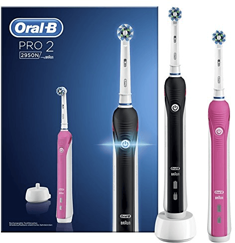 Oral-B PRO 2 2950 BLACK en PINK Cross Action elektrische tandenborstels