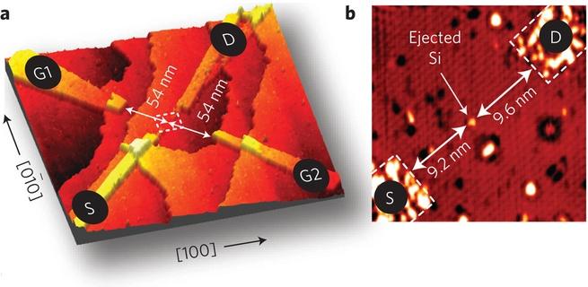 Atomaire transistor