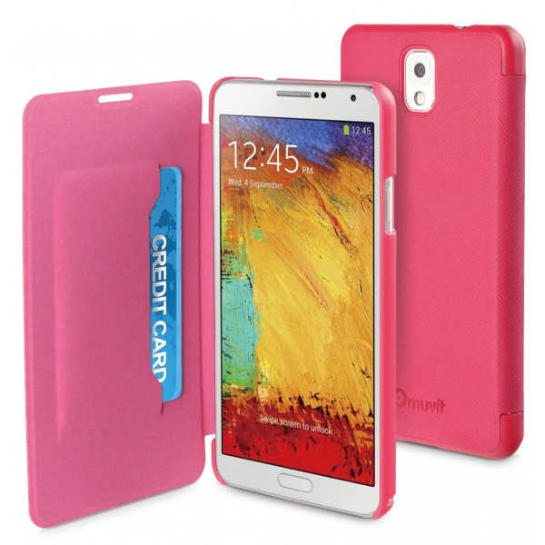 Muvit Samsung Galaxy Note 3 Easy Folio Case (pink)