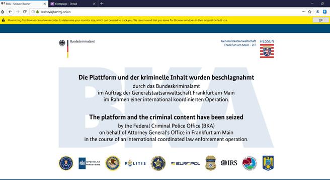 German investigations take over the market for WSM-Darknet