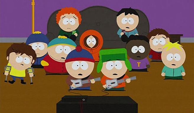 Southpark speelt Guitar Hero