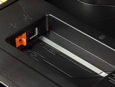 detail netwerk- en USB aansluitingen