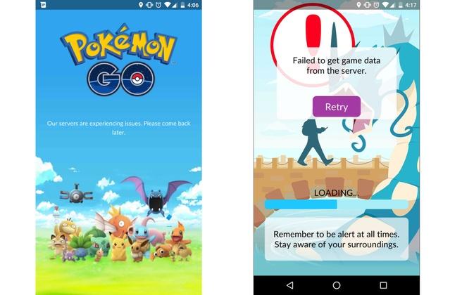 Pokémon Go serverproblemen