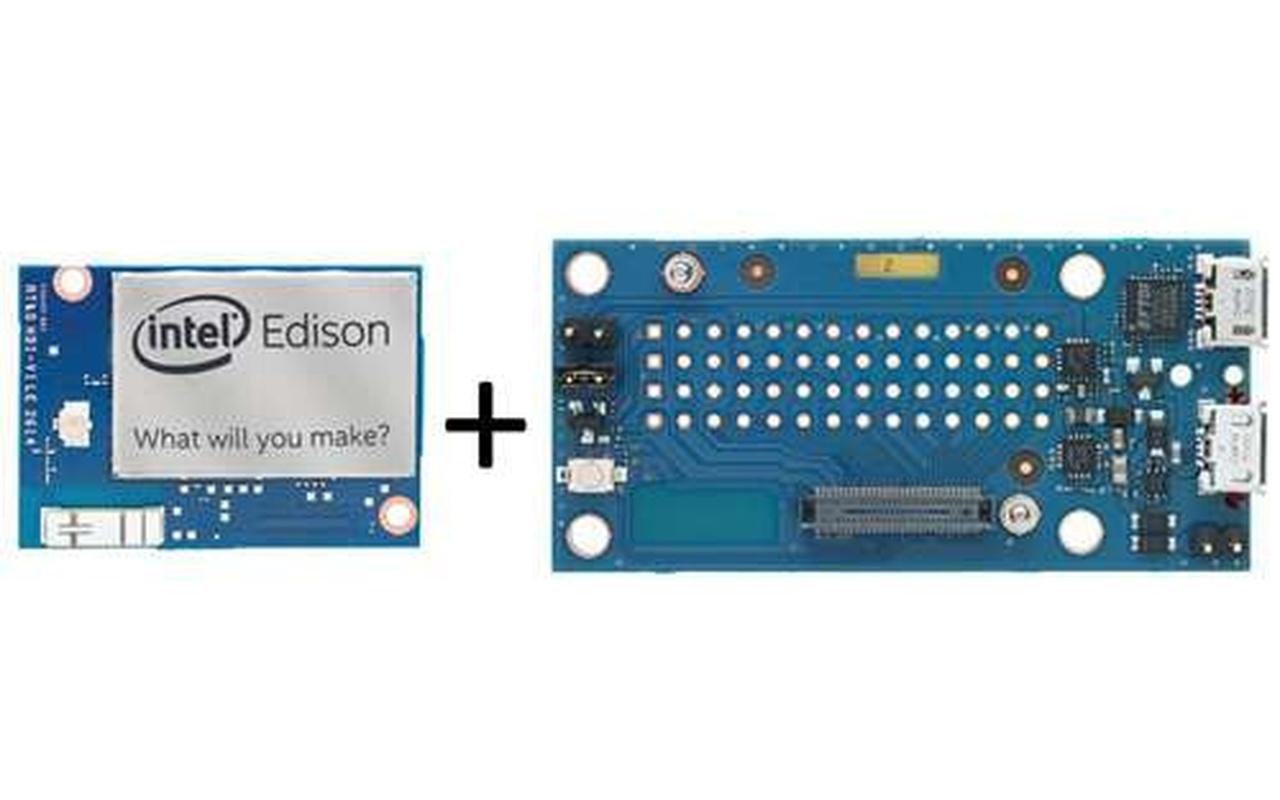 Intel Edison en met breakout boards