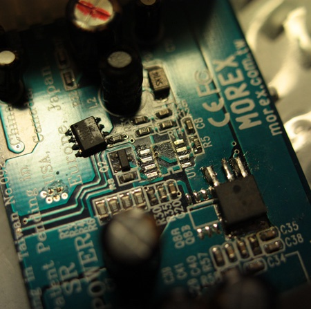 -12V MC34063 eraf gesoldeerd