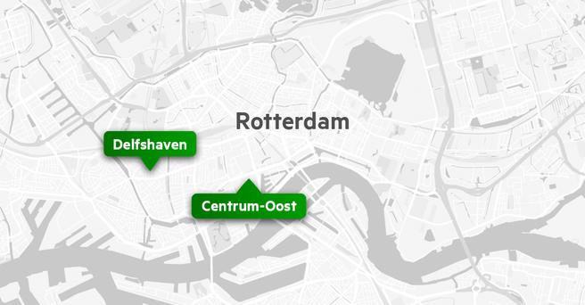 Glasvezelkaart Rotterdam