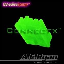AC Ryan ACR-CB7938 Floppy Power 4pin Female (UV-Groen)
