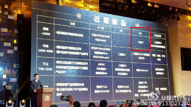 Presentatie China Mobile over oa release Galaxy S7