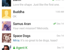 Telegram screenshots uit Play Store