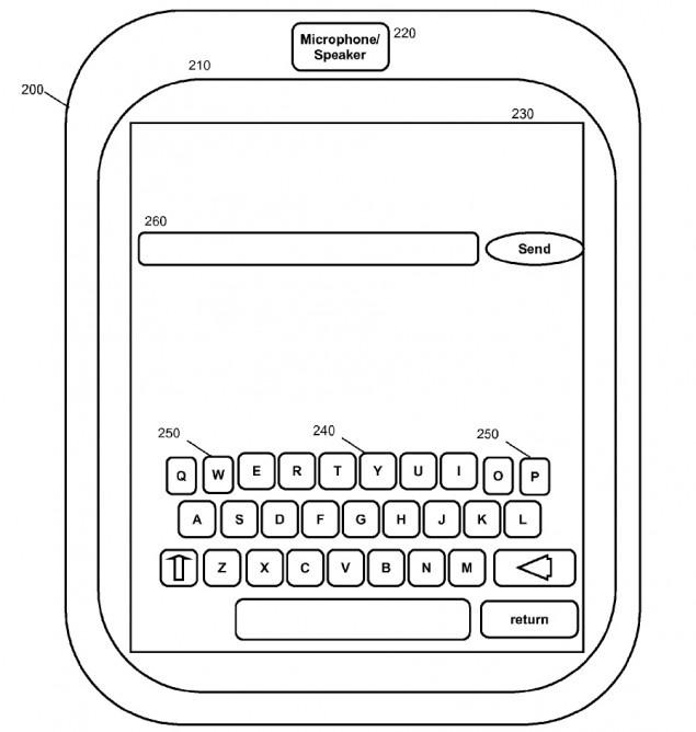 IBM virtual keyboard patent